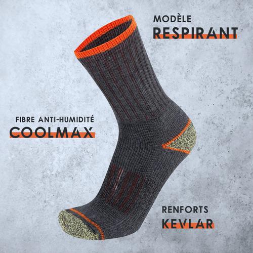 chaussette travail anti transpiration