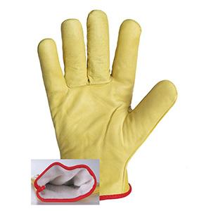 gant travail avec doublure