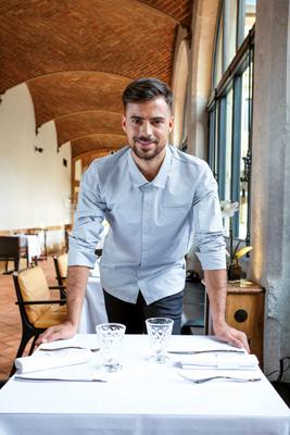 veste cuisine chemise homme
