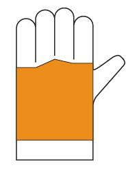 Gant bûcheron Type A - zone de protection