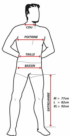 Guide taille homme