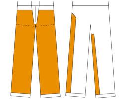 Pantalon bûcheron type A - zone de la protection