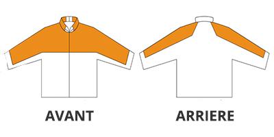 Veste bûcheron - zone de la protection